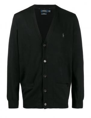 POLO RALPH LAUREN melns vīriešu vilnas džemperis