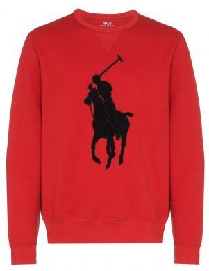 POLO RALPH LAUREN sarkans vīriešu džemperis