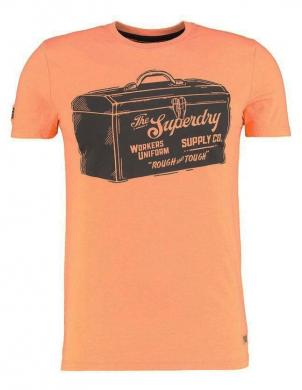 SUPERDRY vīriešu oranžs kokvilnas krekls WORKWEAR GRAPHIC T-SHIRT