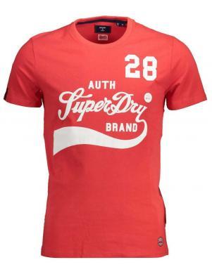 SUPERDRY vīriešu sarkans kokvilnas krekls COLLEGIATE GRAPHIC T-SHIRT