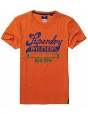 SUPERDRY vīriešu oranžs kokvilnas krekls COLLEGIATE GRAPHIC T-SHIRT