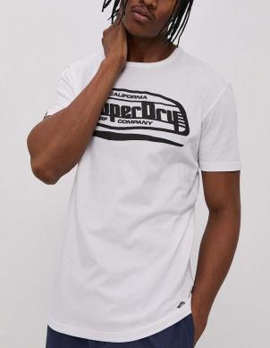 SUPERDRY vīriešu balts kokvilnas krekls CALI SURF GRAPHIC T-SHIRT