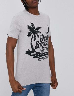 SUPERDRY vīriešu pelēks kokvilnas krekls CALI SURF GRAPHIC T-SHIRT