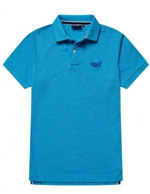 SUPERDRY vīriešu gaiši zils kokvilnas polo krekls CLASSIC PIQUE SHORT SLEEVE POLO SHIRT