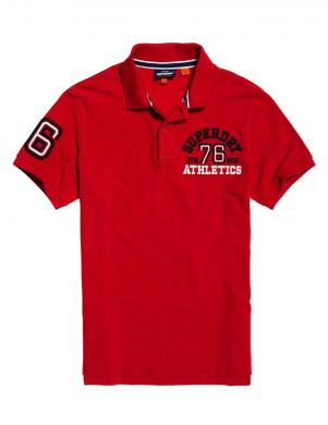 SUPERDRY vīriešu sarkans kokvilnas polo krekls CLASSIC SUPERSTATE POLO SHIRT