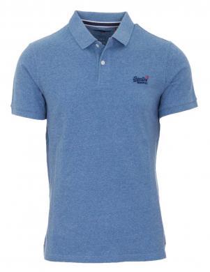 SUPERDRY vīriešu gaiši zils kokvilnas polo krekls CLASSIC PIQUE POLO SHIRT
