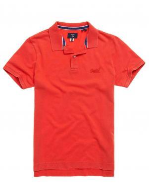 SUPERDRY vīriešu sarkans kokvilnas polo krekls ORGANIC COTTON VINTAGE DESTROYED POLO SHIRT