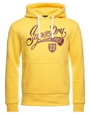 SUPERDRY vīriešu dzeltens džemperis ar kapuci COLLEGIATE GRAPHIC OVERHEAD HOODIE