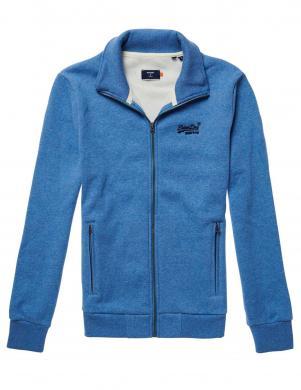 SUPERDRY vīriešu zils ar aizdari džemperis ar augstu apkakli OL CLASSIC ZIP HOOD SWEATER