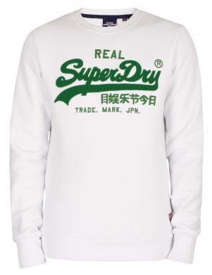 SUPERDRY vīriešu balts sporta džemperis ar uzrakstu VINTAGE LOGO CHENILLE SWEATSHIRT