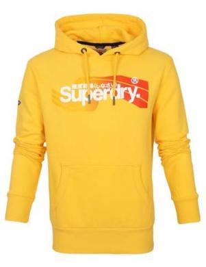 SUPERDRY vīriešu dzeltens džemperis ar kapuci HOODIE CALI