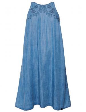SUPERDRY sieviešu zila kleita bez piedurknēm SLEEVELESS DRESS