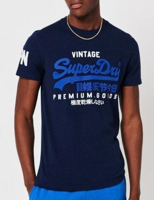 SUPERDRY vīriešu zils kokvilnas krekls