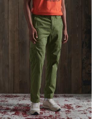 SUPERDRY vīriešu zaļas bikses CORE CARGO