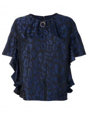 CAVALLI CLASS zilas/melnas krāsas skaista sieviešu blūze
