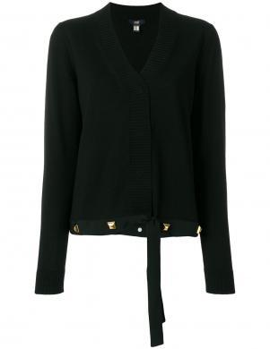 CAVALLI CLASS melnas krāsas stilīgs sieviešu džemperis no vilnas