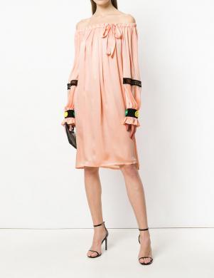 Rozā krāsas sieviešu kleita CAVALLI CLASS