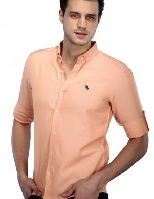 PHILIP LOREN kokvilnas vīriešu oranžas krāsas krekls