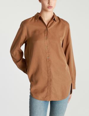 MARC O POLO sieviešu brūns garš krekls