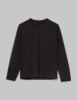 MARC O POLO sieviešu melns kokvilnas džemperis
