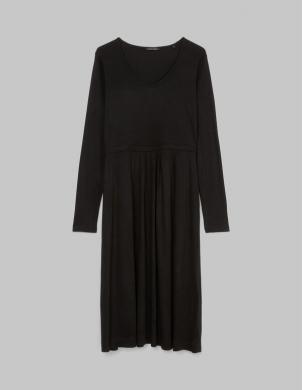 MARC O POLO sieviešu melna vidējā garuma kleita