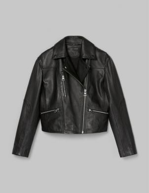MARC O POLO sieviešu melna īsa ādas jaka