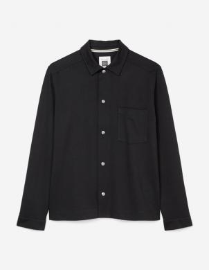 MARC O POLO vīriešu melns kokvilnas krekls
