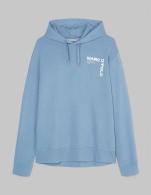 MARC O POLO vīriešu gaiši zils džemperis ar kapuci