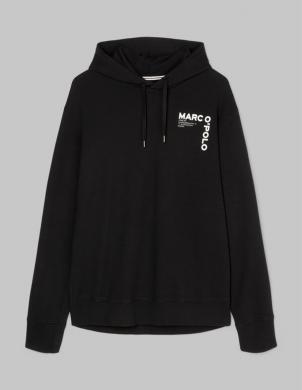 MARC O POLO vīriešu melns džemperis ar kapuci