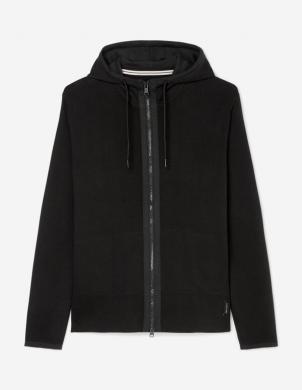 MARC O POLO vīriešu melnas aizdares džemperis ar kapuci