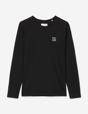 MARC O POLO vīriešu melns krekls ar garām piedurknēm