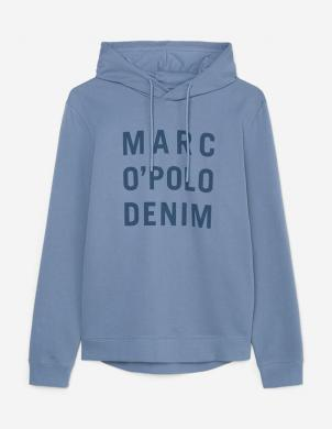 MARC O POLO vīriešu zils džemperis ar kapuci