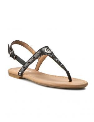 Sieviešu melnas sandales pār pirkstu ARMANI JEANS
