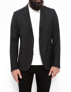 DIESEL melna vīriešu jaka ar vilnu