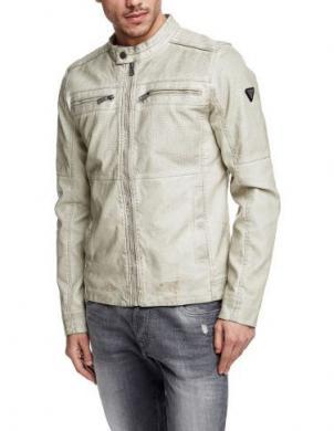 GUESS gaiša mākslīgas ādas imitācijas jaka