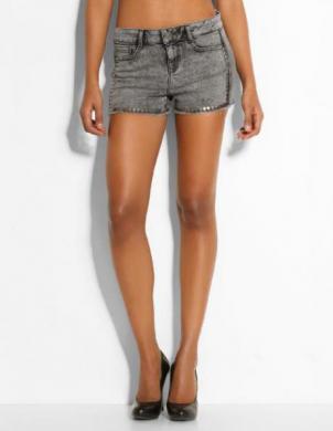 GUESS Sieviešu pelēki īsi džinsa auduma šorti