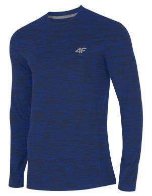 Zils vīriešu krekls ar garām piedurknēm TSML001 4F