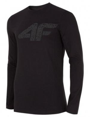 Melns vīriešu krekls ar garām piedurknēm  TSML002 4F