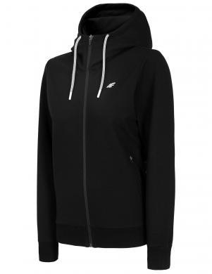 Sieviešu melns džemperis ar kapuci BLD005 4F