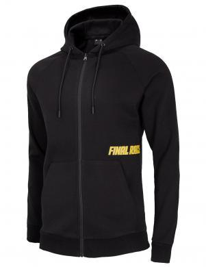 Vīriešu melns džemperis ar kapuci BLM015 4F