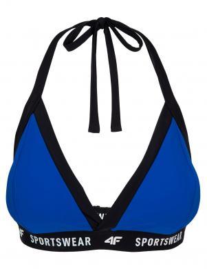 Sieviešu peldkostīma augšējā daļa zila KOS004G 4F