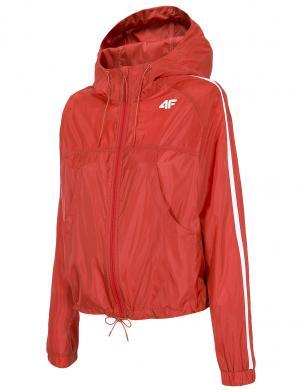 Sieviešu sarkana brīva laika jaka ar kapuci KUDC001 4F