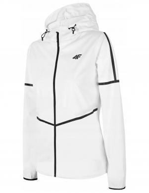 Sieviešu balta sporta jaka ar kapuci SFD003 4F