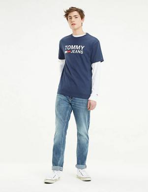 TOMMY JEANS tumši zils vīriešu krekls