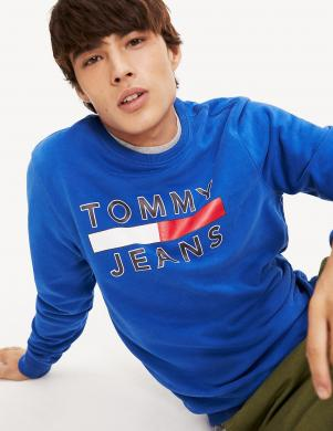 TOMMY JEANS zils vīriešu džemperis