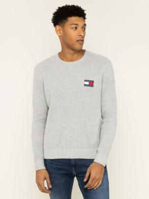 TOMMY JEANS pelēks vīriešu džemperis