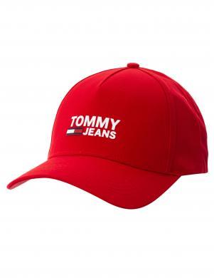 TOMMY HILFIGER sarkana vīriešu cepure