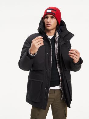 TOMMY HILFIGER melna vīriešu jaka