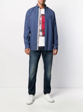 TOMMY HILFIGER zils vīriešu krekls