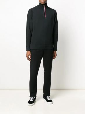 TOMMY HILFIGER melns vīriešu džemperis